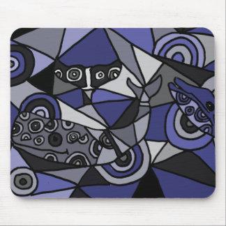 XX抽象美術のクジラ マウスパッド