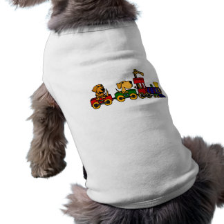 XX犬およびキリンが付いている漫画の列車 ペット服