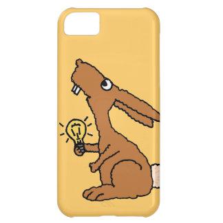 XX電球を握るおもしろいで物の言えないバニーウサギ iPhone5Cケース