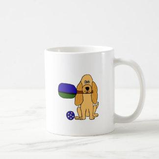 XX Pickleballのコッカースパニエルの漫画 コーヒーマグカップ