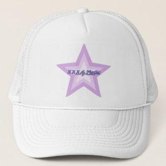 XXX医者の紫色の星および文字 キャップ