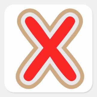 XXX ALPHAXのステッカー 正方形シール・ステッカー
