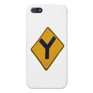 Yの接続点の黄色の道標 iPhone 5 CASE