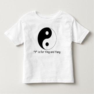 YはYingのためであり、ヤンは綴るために学びます トドラーTシャツ