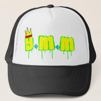 y.m.mの網が付いている白い野球帽 キャップ