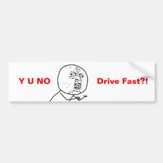 Y Uドライブ早くバンパーステッカー無し バンパーステッカー