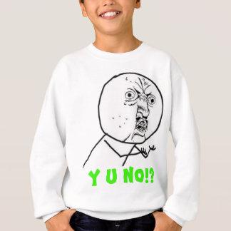y u人の大きい文字 スウェットシャツ