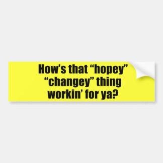 yaのためのそのhopeyのchangeyの事のworkinがいかにあるか バンパーステッカー