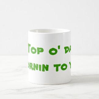 yaへの上のo daのmornin! コーヒーマグカップ