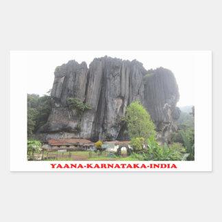 yaanaのカルナータカ州インドのツーリストの場所の写真のステッカー 長方形シール