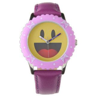 Yahのかわいく、おもしろいな笑うemoji 腕時計