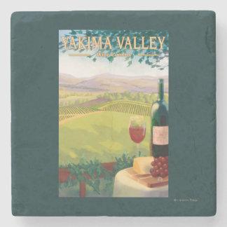 Yakimaの谷、WashingtonWineの国 ストーンコースター