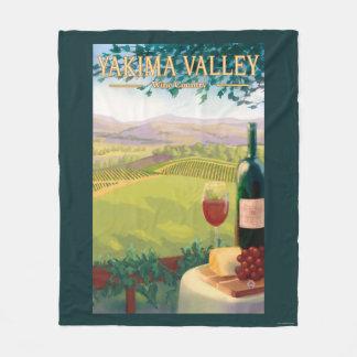 Yakimaの谷、WashingtonWineの国 フリースブランケット