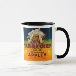 Yakima主なAppleのラベル- Yakima、WA マグカップ