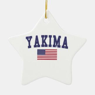 Yakima米国の旗 セラミックオーナメント