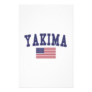 Yakima米国の旗 便箋