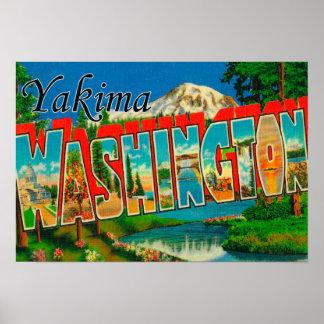 Yakima、ワシントン州-大きい手紙場面2 ポスター