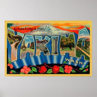 Yakima、ワシントン州-大きい手紙場面 ポスター