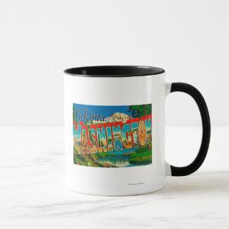 Yakima、ワシントン州-大きい手紙場面 マグカップ