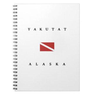 Yakutatアラスカのスキューバ飛び込みの旗 ノートブック