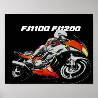 Yamaha FJのヴィンテージのデザインポスター ポスター