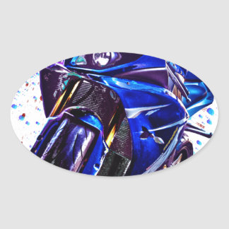 Yamaha YZF R1の芸術のプリント 楕円形シール
