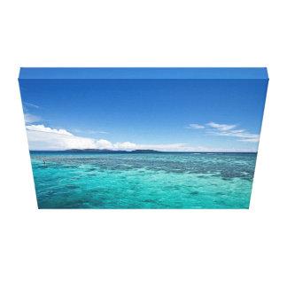 Yanuyaの島および珊瑚礁、フィージー キャンバスプリント