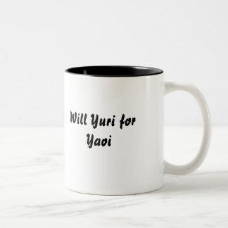 Yaoiのためのユリ ツートーンマグカップ