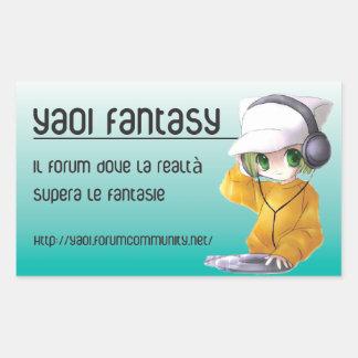 Yaoiのファンタジー- styckers 長方形シール