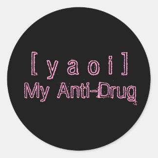 Yaoiの麻薬取締まりのステッカー ラウンドシール
