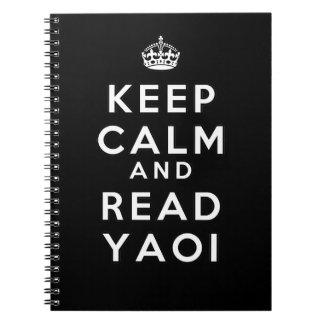 Yaoi穏やか、読書保って下さい ノートブック