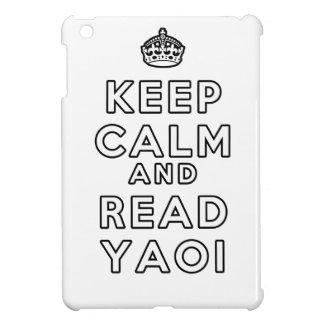 Yaoi穏やか、読書保って下さい iPad Miniケース