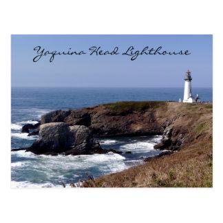 Yaquinaのヘッド灯台オレゴンの郵便はがき ポストカード