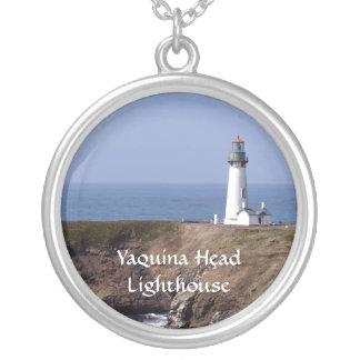 Yaquinaのヘッド灯台銀のペンダントのネックレス シルバープレートネックレス