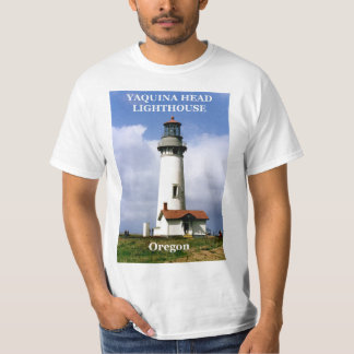 Yaquinaのヘッド灯台、オレゴンのTシャツ Tシャツ