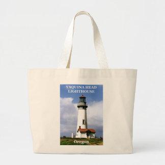 Yaquinaのヘッド灯台、オレゴン ラージトートバッグ