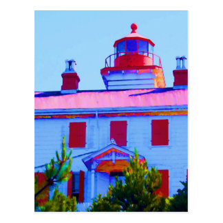 Yaquina湾のニューポートの灯台 ポストカード