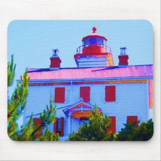 Yaquina湾のニューポートの灯台 マウスパッド