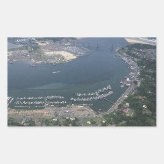 Yaquina湾 長方形シール