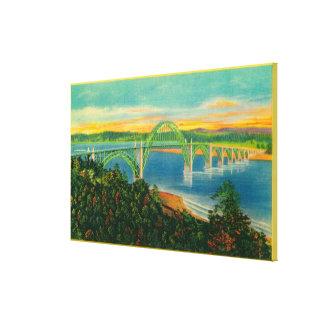 Yaquina湾BridgeNewport、または キャンバスプリント