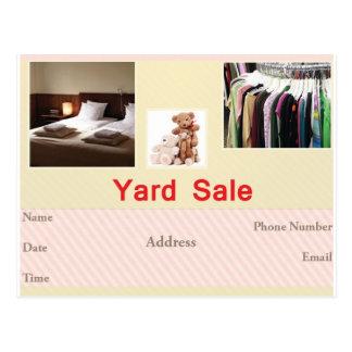 Yardsaleのフライヤ ポストカード