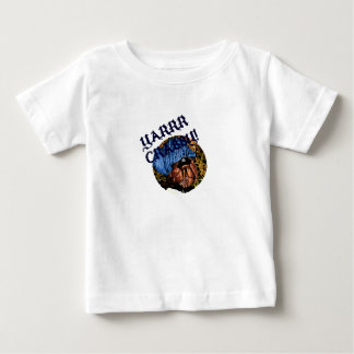 YarrのCrabby海賊ヤドカリのデザイン ベビーTシャツ
