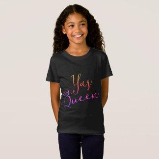 Yasの女王!  王冠の子供のTシャツ Tシャツ