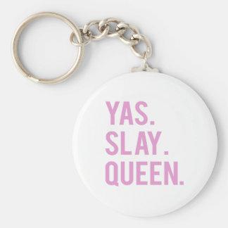 Yasは女王のピンクのプリントを殺害します キーホルダー