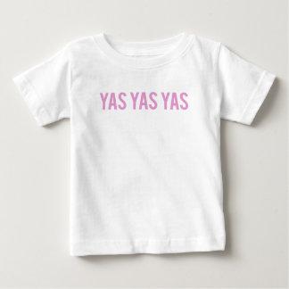 Yas Yas Yasのプリント ベビーTシャツ