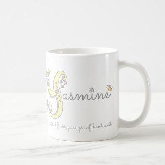 Yasmineの一流の意味装飾的なYモノグラムのマグ コーヒーマグカップ