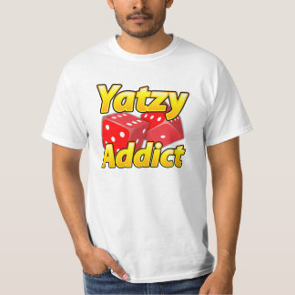 Yatzyの常習者のプロおもしろいの衣服! Tシャツ