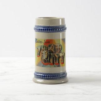 Ybor都市フロリダFLの古いヴィンテージ旅行記念品 ビールジョッキ