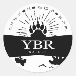 YBRnature_sticker ラウンドシール