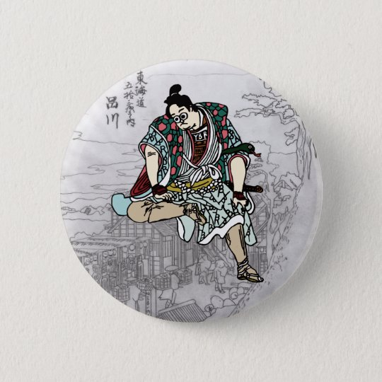 YBsamurai缶バッヂ 5.7cm 丸型バッジ